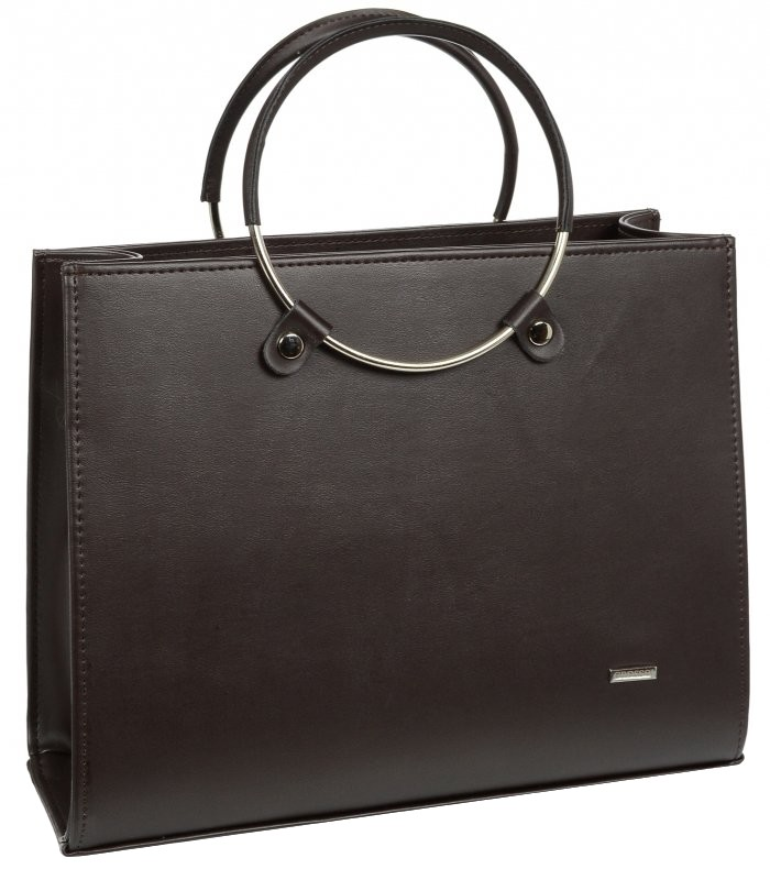 b8632f37a6 Elegantní černá kabelka s kruhy GROSSO S 747