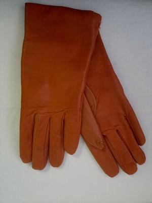 Terakotové kožené rukavice  efc3d1a820