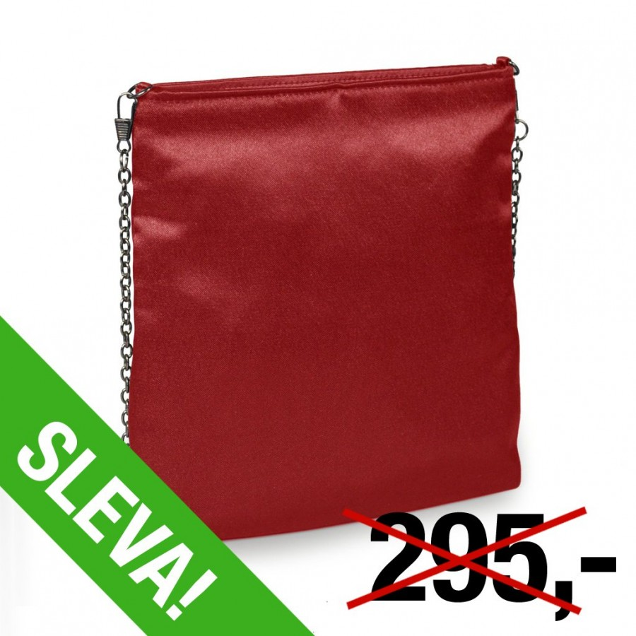 1c1ab270f2 Společenská kabelka Charmel. červená