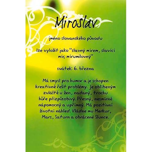přání k svátku miroslav Blahopřání Kouzlo tvého jména   Miroslav přání k svátku miroslav