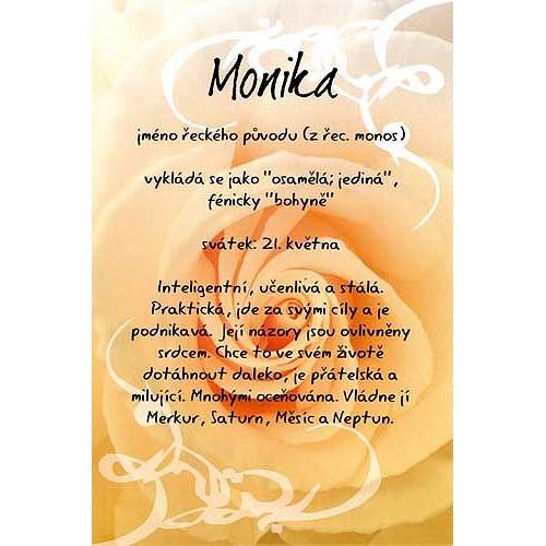 přání k svátku monika Blahopřání Kouzlo tvého jména   Monika přání k svátku monika