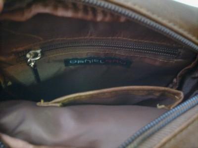 Karamelově hnědá koženková kabelka DANIEL RAY.