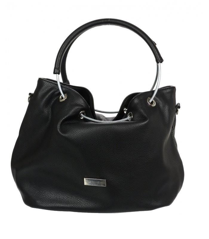 41622fbe300 Elegantní černá kabelka s kruhy GROSSO empty
